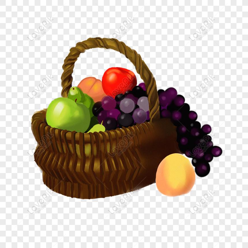Lovepik 832455304 Id 2000 2000px الصور تحميل مجاني سلة من عناصر الكرتون الفاكهة Png Psd بحجم