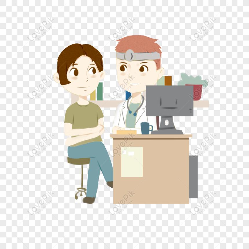 personnage de bande dessinée hôpital traitement médical éléme png