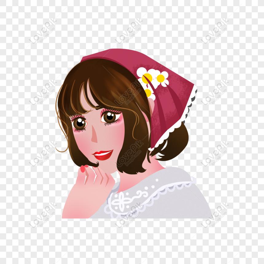 Free Smiling Big Eyes Beautiful Girl Cartoon Element Png Psd Image Download Size 2000 2000px Id832473290 Lovepik