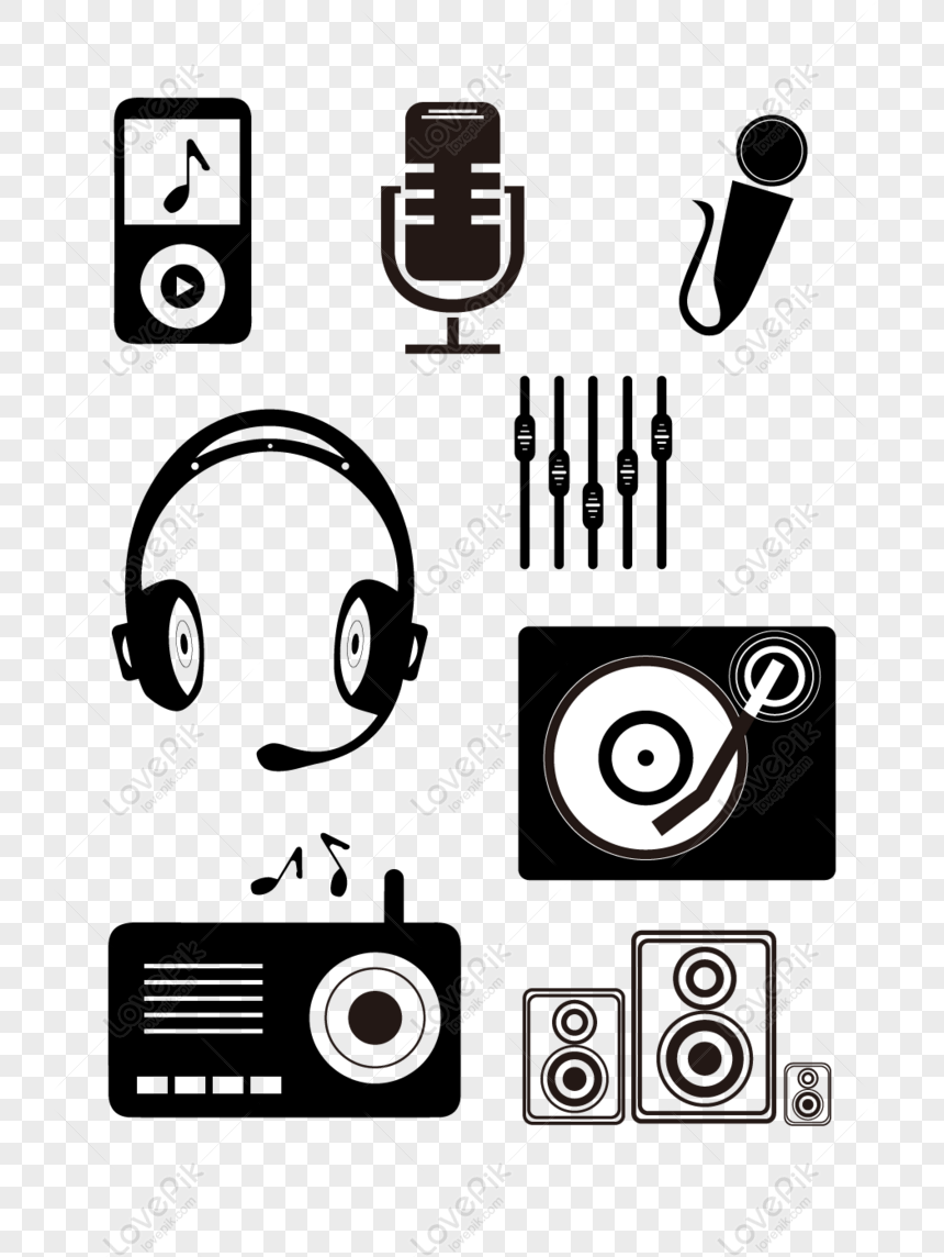 free black and white music icon with commercial elements png ai image download size 1024 1370 px id 832474572 lovepik music icon with commercial elements png