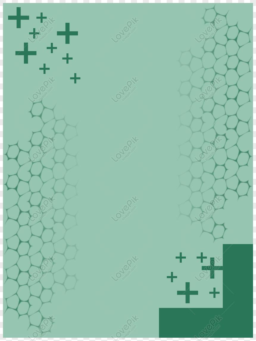 jaringan sel medis bersilangan latar belakang hijau minimalis da