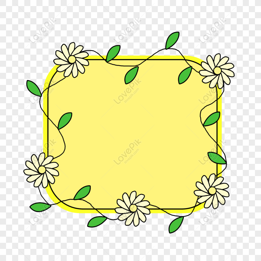 Free Simple Creative Cute Cartoon Flower Leaf Frame Png Psd Image Download Size 2000 2000 Px Id 832614148 Lovepik