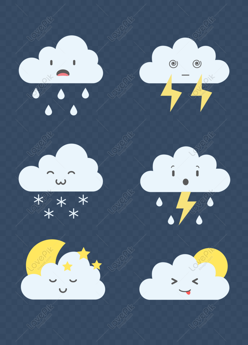 free flat vector cartoon cute weather forecast white clouds material png ai image download size 1369 1920 px id 832707546 lovepik free flat vector cartoon cute weather