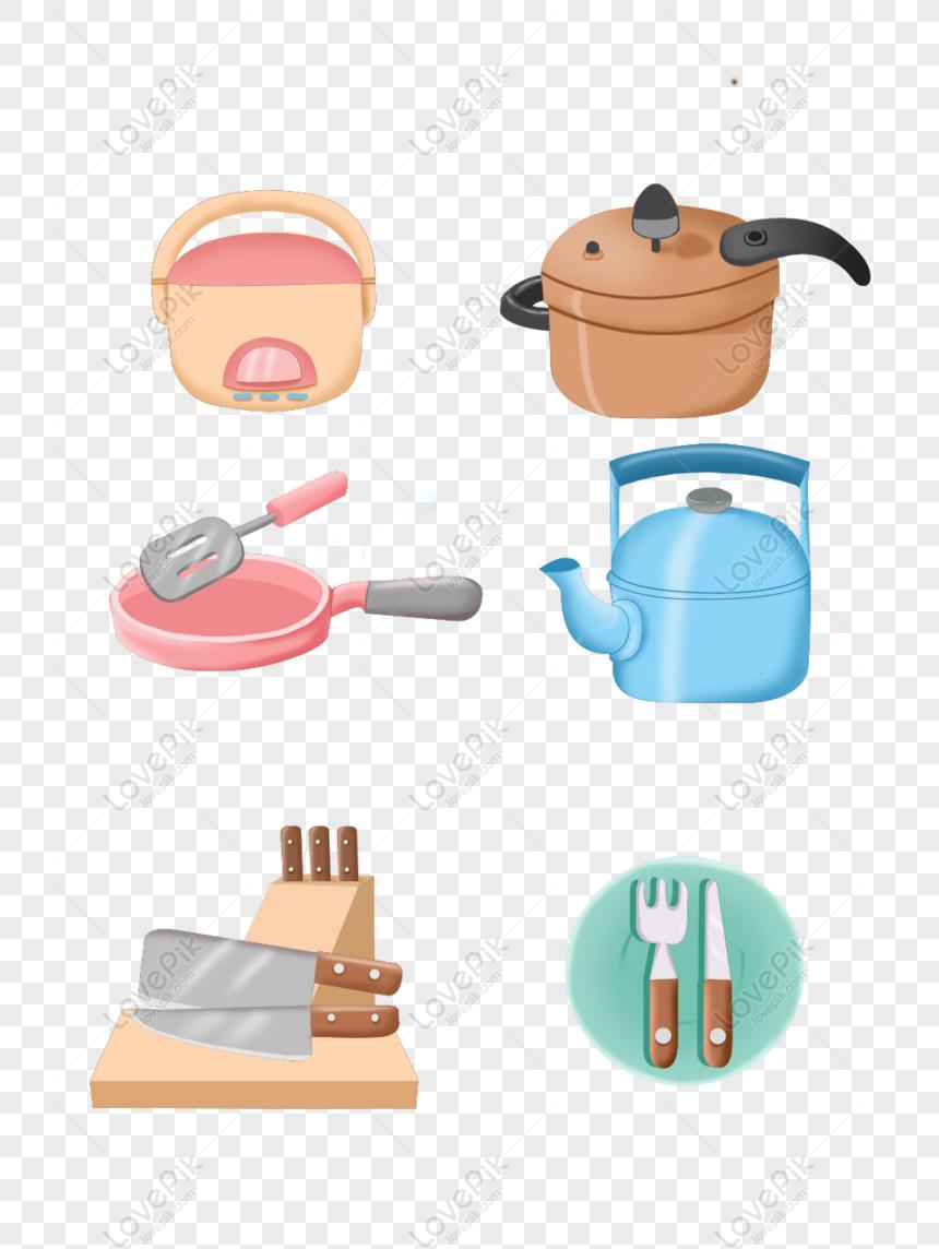 Kartun Alat Dapur Yang Comel Png Psd