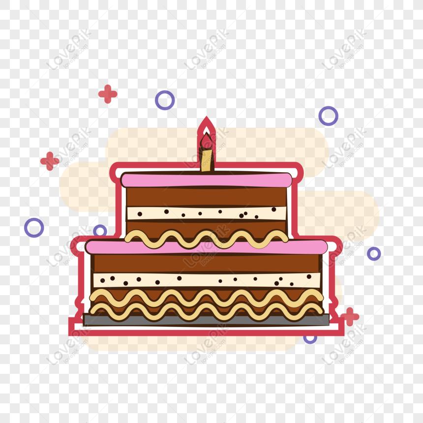 Gratis Kue Ulang Tahun Kartun Vektor Asli Tersedia Untuk