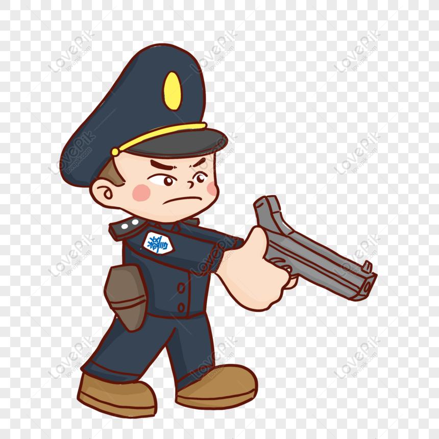 Free Cartoon Hand Drawing A Policeman Design Holding A Gun Png Psd Image Download Size 2000 2000 Px Id 833589514 Lovepik Skull hand hold uzi gun hand drawing vector. policeman design holding a gun png