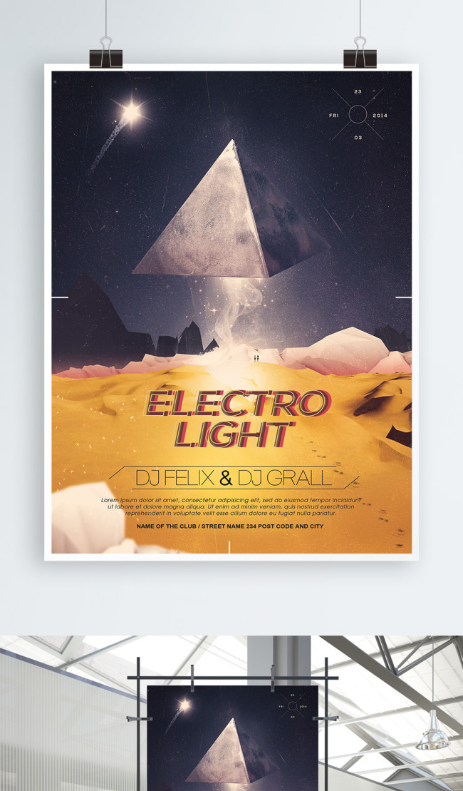 Cool Graphic Movie Poster Design Template Imagepicture Free