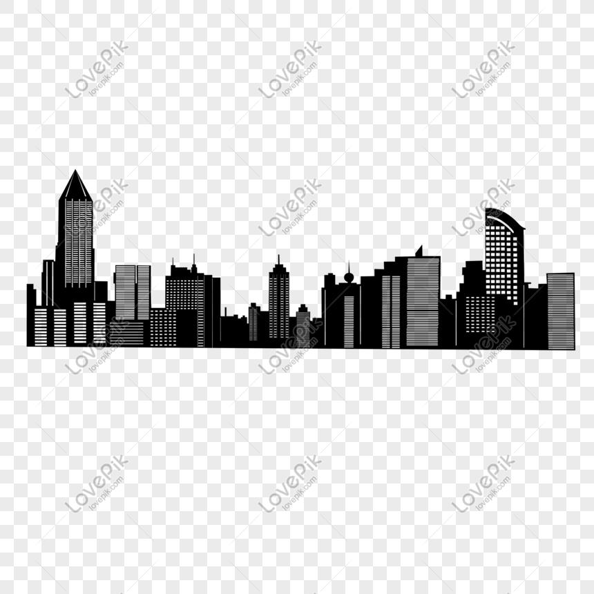 gambar siluet bangunan kota png grafik gambar unduh gratis lovepik gambar siluet bangunan kota png grafik
