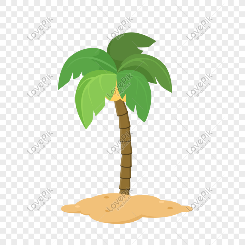 vector cartoon green coconut tree decorative pattern creative de png image picture free download 726672248 lovepik com vector cartoon green coconut tree