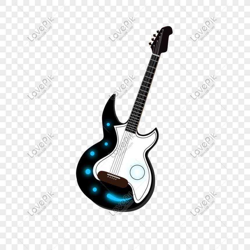 Material De Instrumento De Musica De Guitarra Dos Desenhos Anima