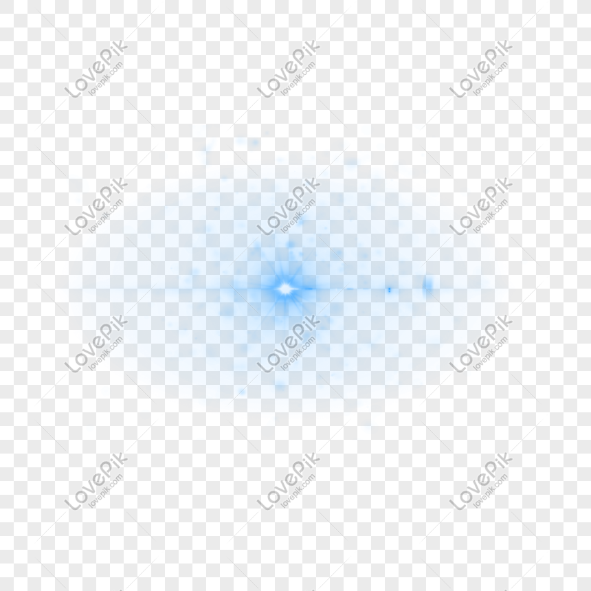 Abstract Blue Light Effect Graphics Free Png Transparent