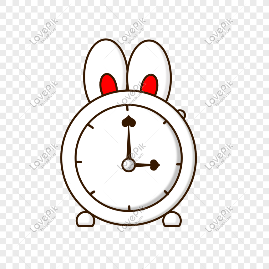 hand drawn cartoon clock elements png