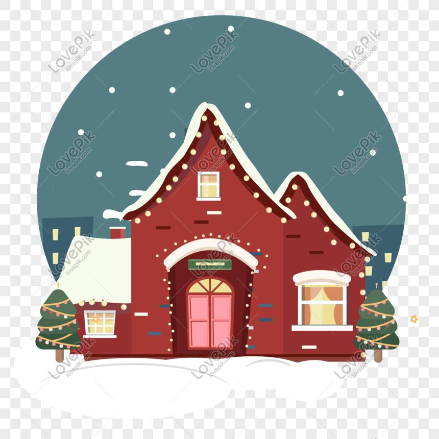 Dibujos De Navidad Creativos.Elemento Creativo De La Casa De Navidad De Dibujos Animados