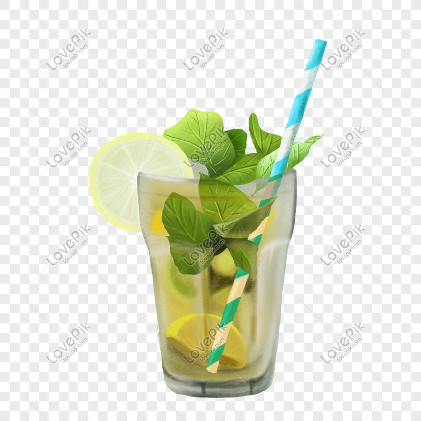 Minuman Ais Makanan Ais Dan Minuman Pokok Jerami Memenuhi Bahan