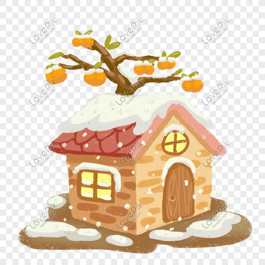 Photo De Arbres De La Maison Orange Dessin Vectoriel Numero De L