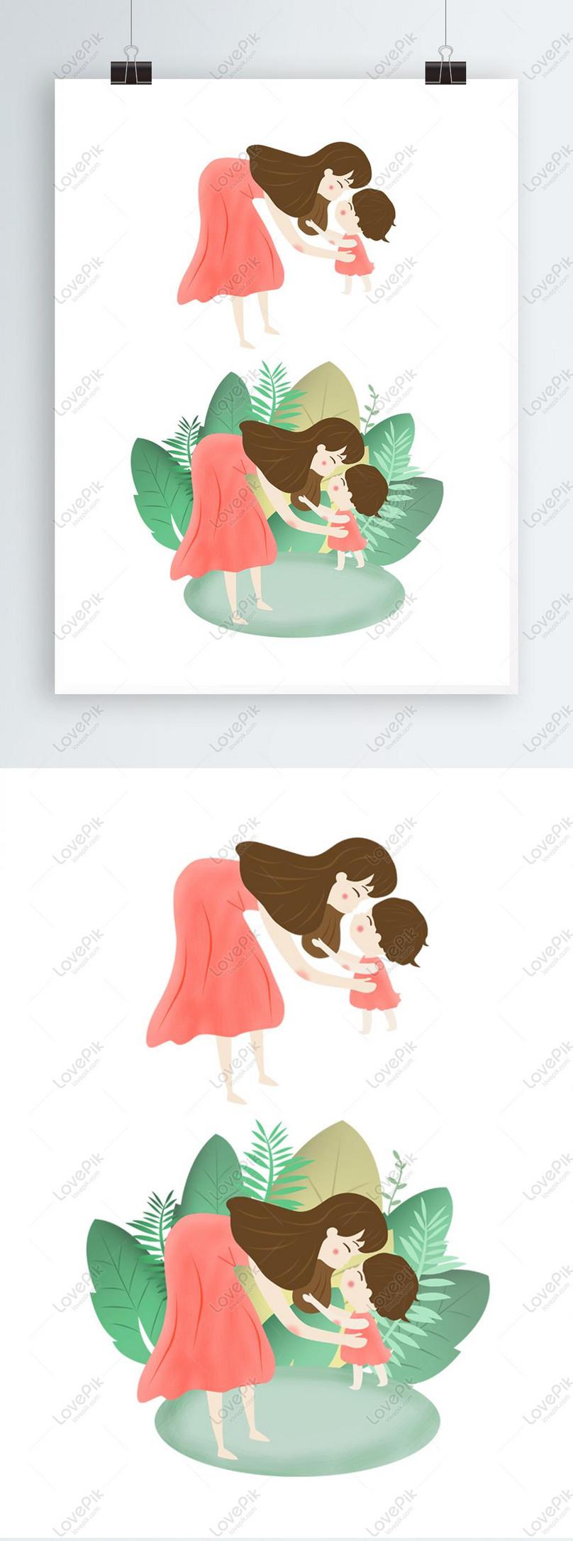original mothers day illustration elements