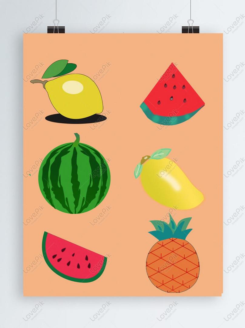 summer fruit element original fruit watermelon pineapple mango l