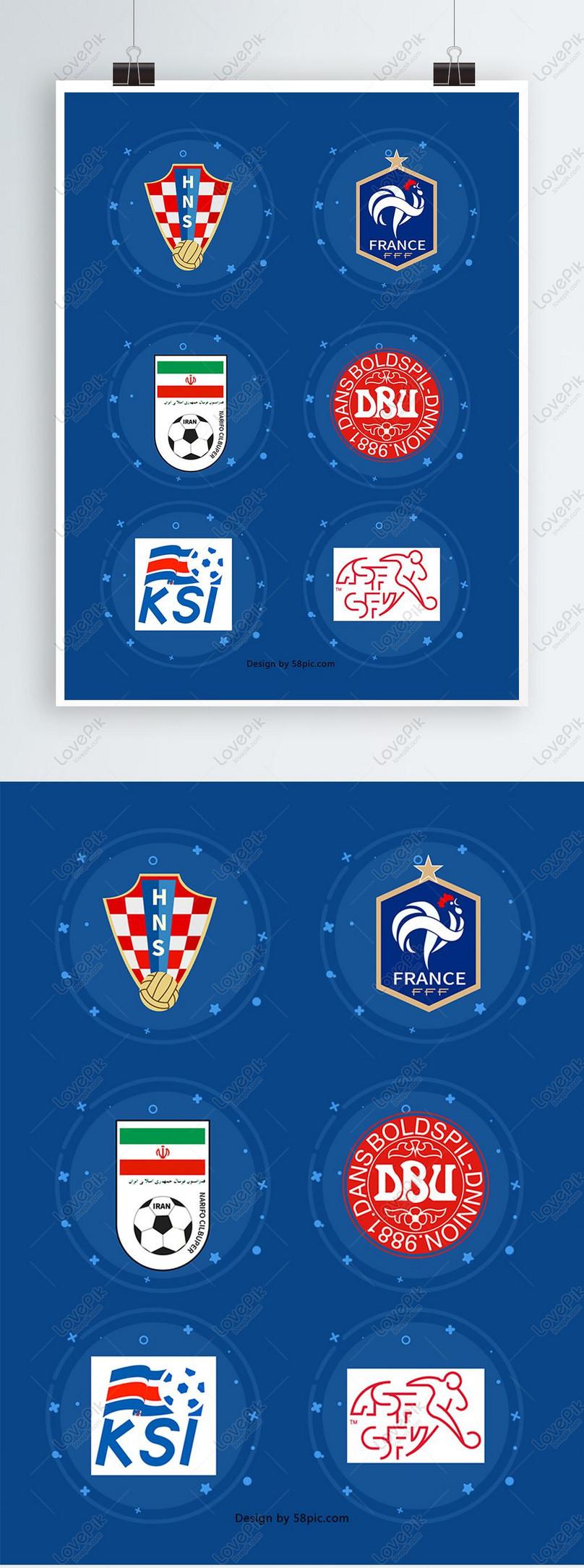 Desain Elemen Logo Tim Piala Dunia Gambar Unduh Gratis