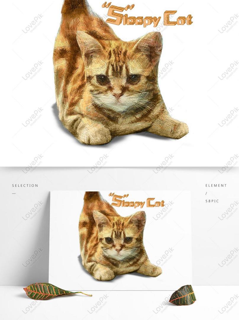 かわいい子猫コイル印象テーマイラストイメージ グラフィックス Id