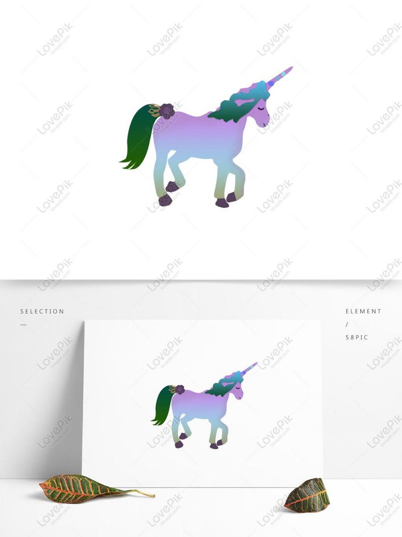 Unsur Makhluk Kartun Unicorn Elemen Gambar Unduh Gratis Imej