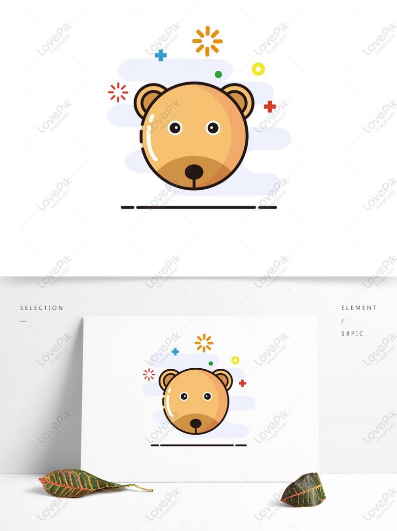 Beruang Cub Elemen Hewan Kartun Lucu Gambar Unduh Gratis