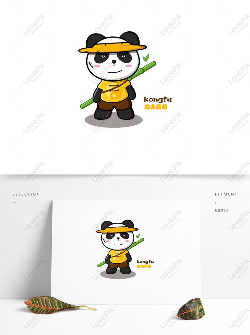 Cartoon Cute Cute Kung Fu Panda Vector Illustration Ai Images Free Download 1369 1024 Px Lovepik Id 728892346