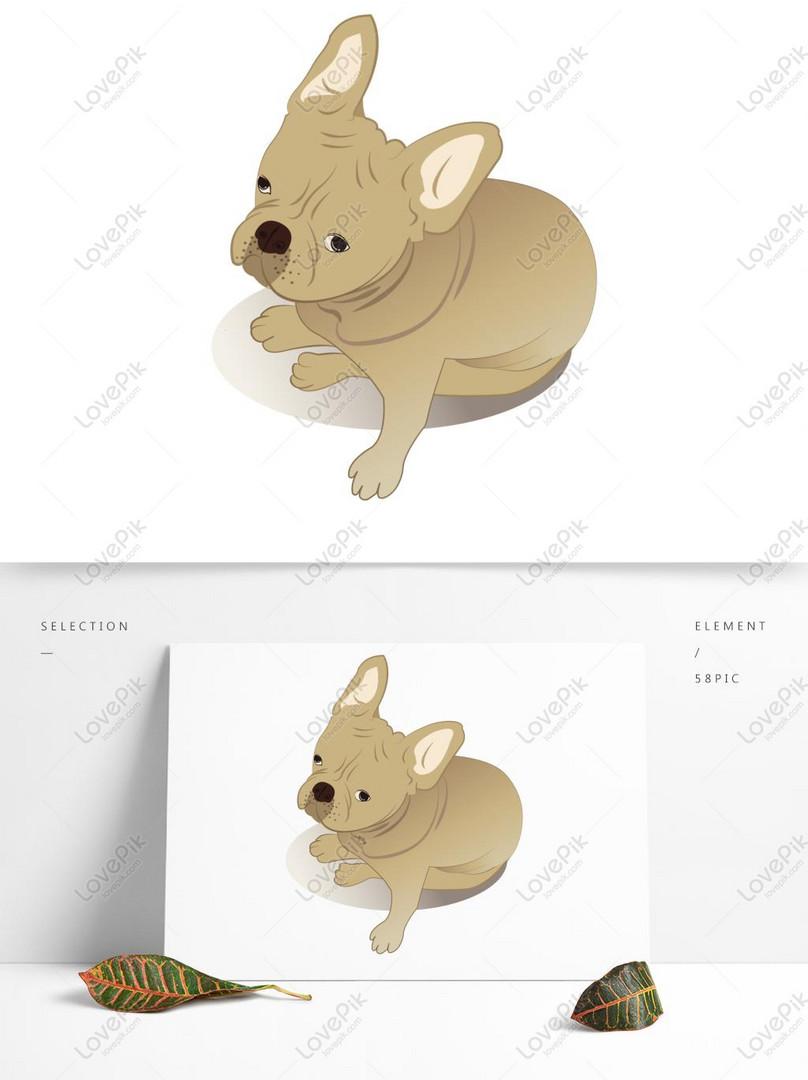 Kartun Anjing Bulldog Digambar Tangan Lucu Marah Gambar