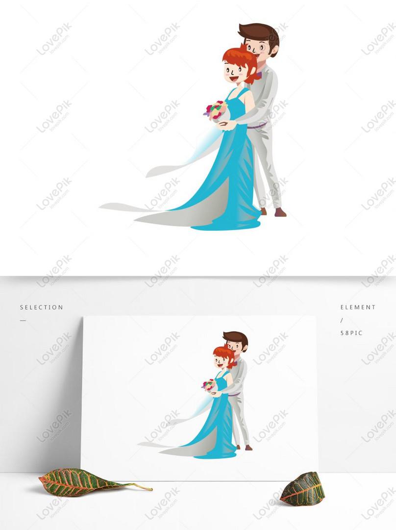 Reka Bentuk Vektor Foto Perkahwinan Kartun Gambar Unduh