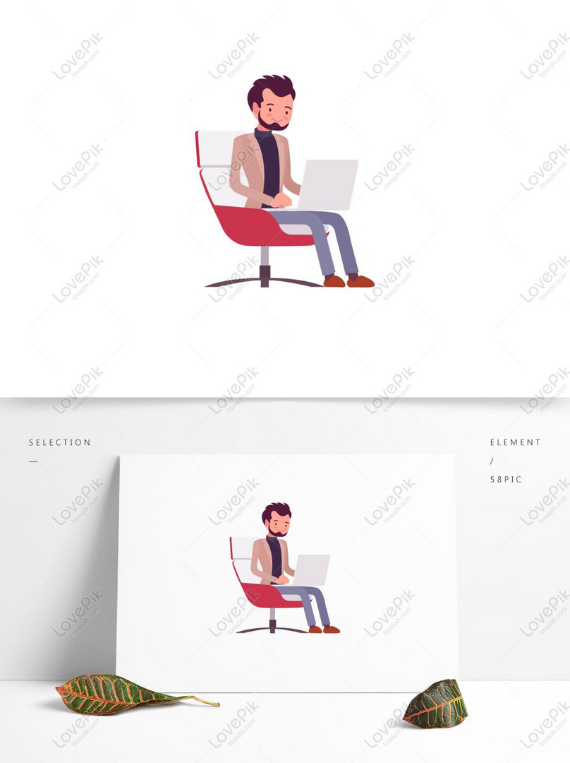 casual office male vector business office