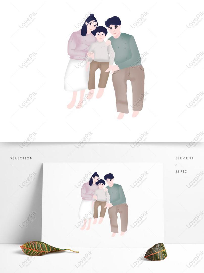 Kartun Keluarga El Tiga Reka Bentuk Watak Gambar Unduh