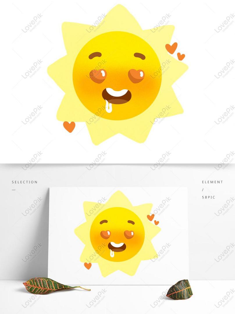 Matahari Bulan Bintang Matahari Matahari Ekspresi Kartun