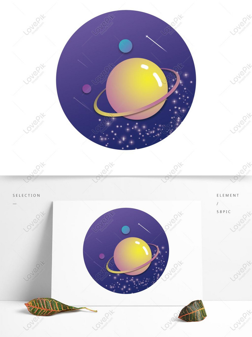 creative sun moon star space meteor space time decoration