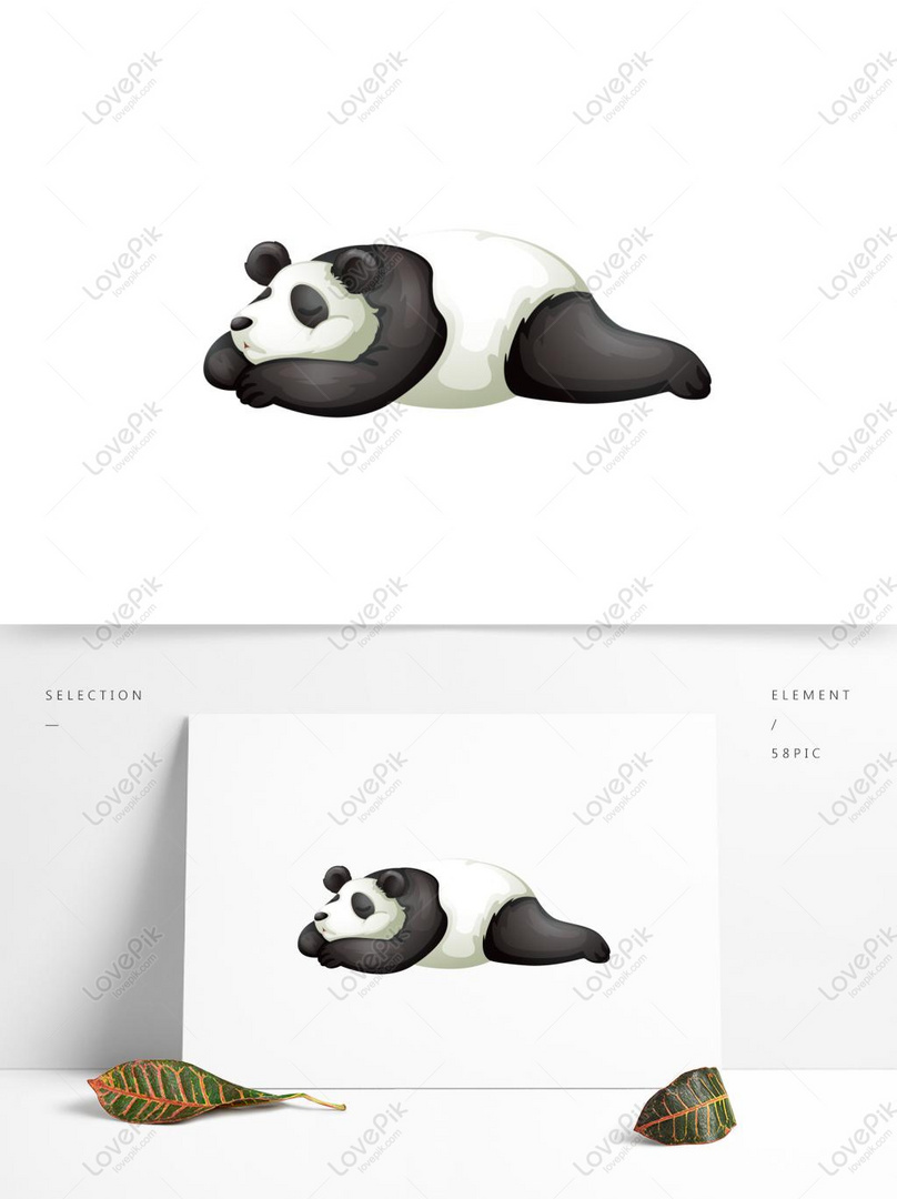 Cartoon Cute Little Panda Animal Elements Ai Images Free Download 1369 1024 Px Lovepik Id 732262241