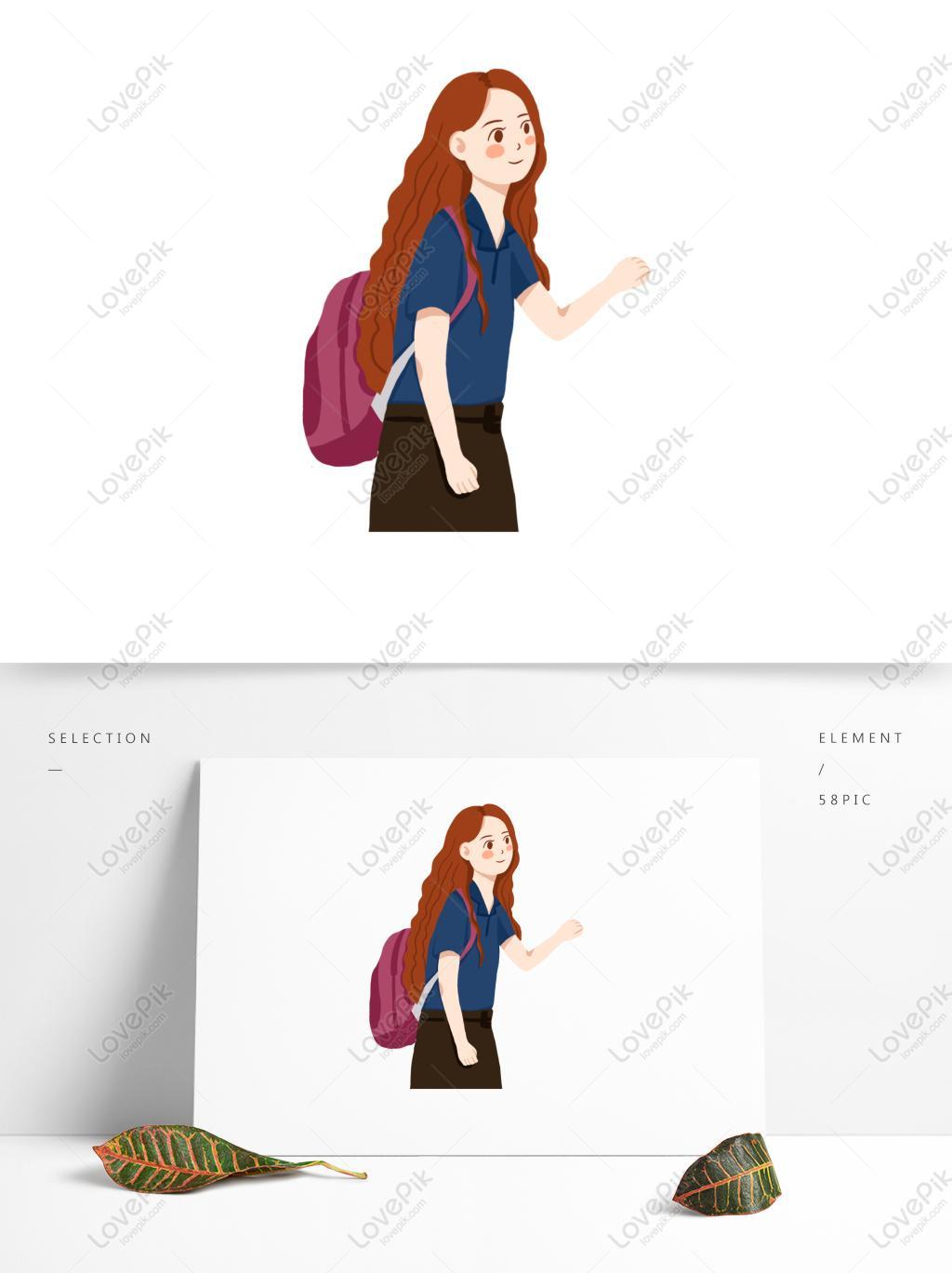 40cm yan Sac /À Dos Cartoon Girl Travel Cute Lady Multi Pocket Casual Playful Student Backpack Sac /À Bandouli/ère Longueur Largeur Hauteur 30 13