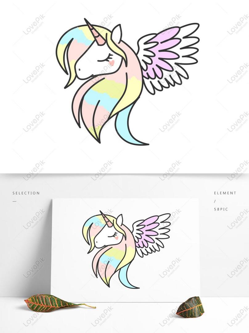 Fantasy Cute Unicorn Element PSD Images Free 1369