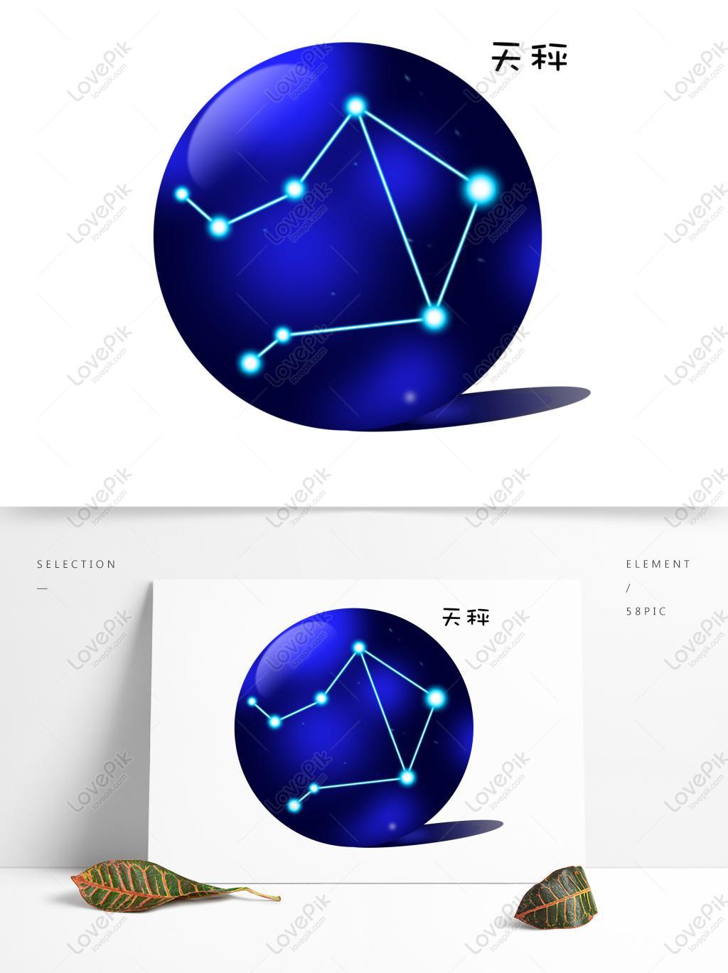 Twelve constellation libra illustration image_picture free