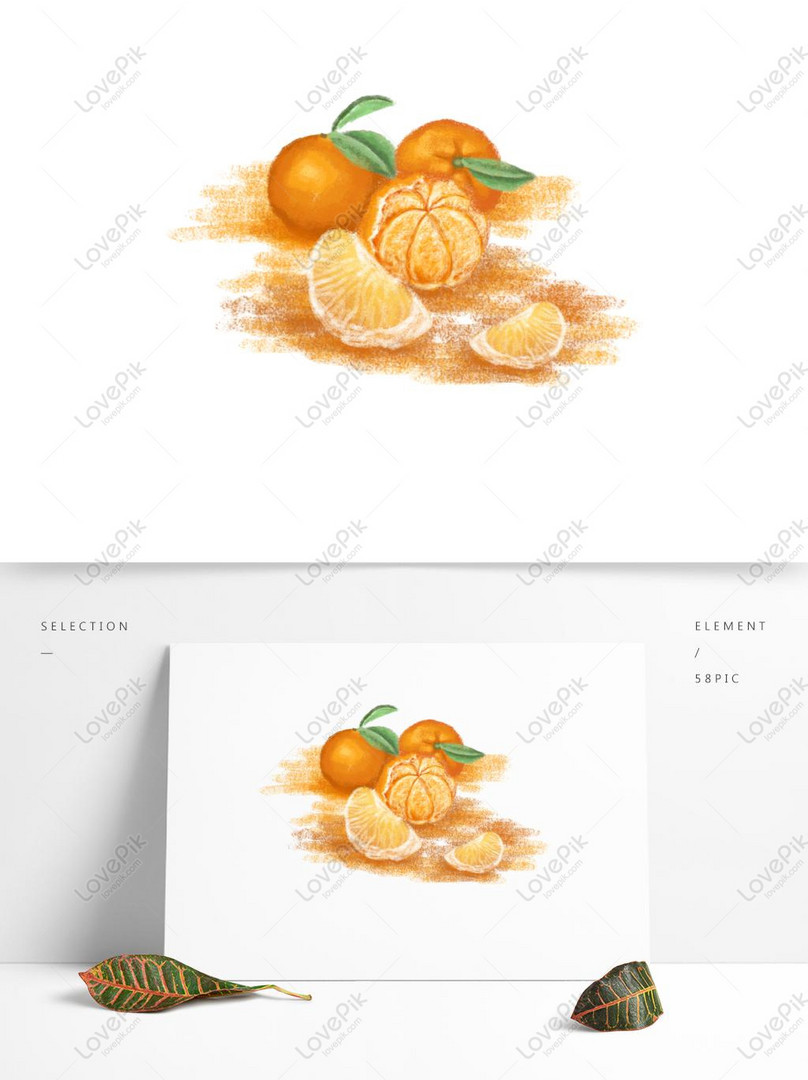 Hand Drawn Cartoon Oranges Commercial Elements Psd Images Free Download 1369 1024 Px Lovepik Id 732286816
