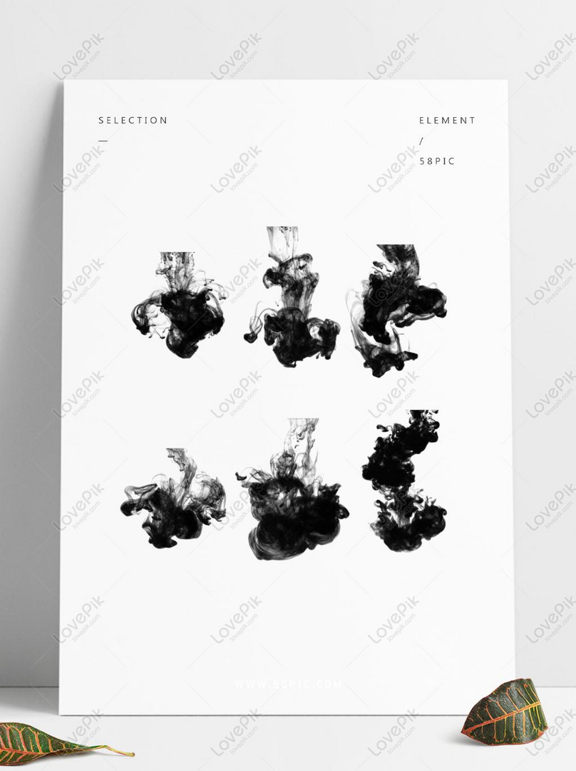 ink smoke ink color simple chinese style antique effect comm