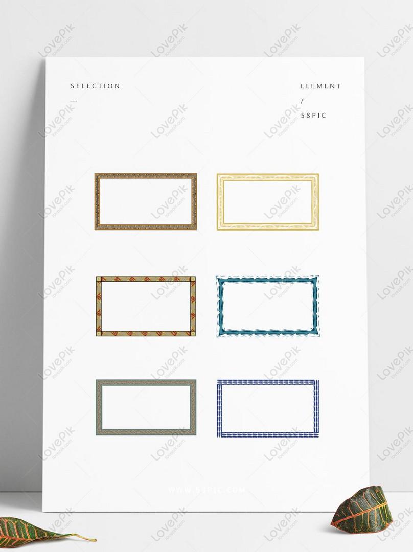elemen perbatasan dekoratif kreatif minimalis gambar unduh