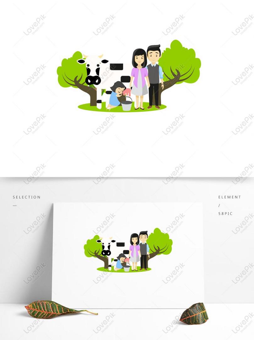 Kartun Keluarga Pemerah Susu Yang Lucu Bisa Menjadi Elemen
