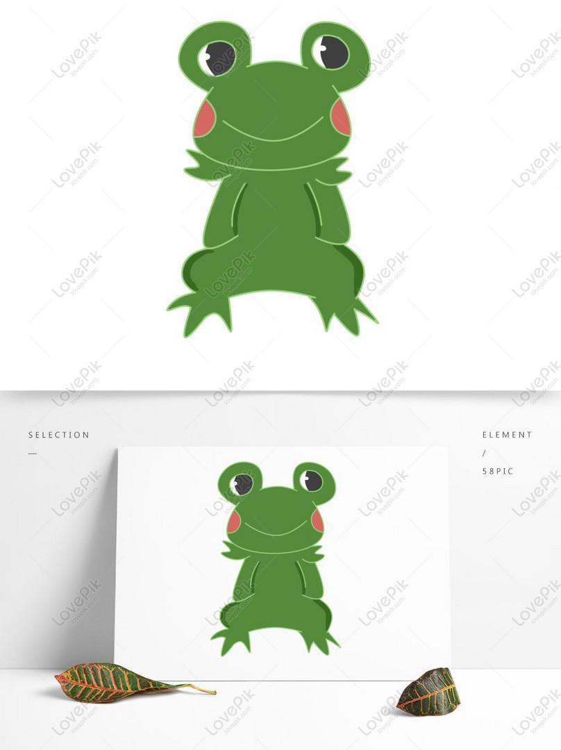 Animal Sapo Verde Criança Bonito Dos Desenhos Animados Mão