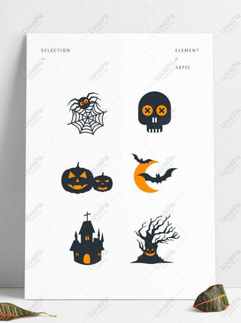 Elementos De Terror Engraçado Mão Desenhada Dos Desenhos