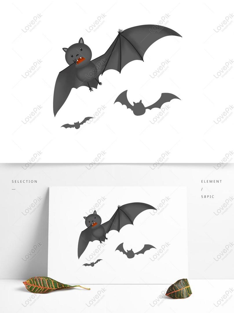 Ekspresi Lucu Kartun Kelelawar Halloween Gambar Unduh