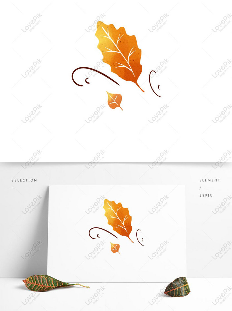 Autumn Wind Blowing Leaves Hand Drawn Elements Psd Images Free Download 1369 1024 Px Lovepik Id 732421745