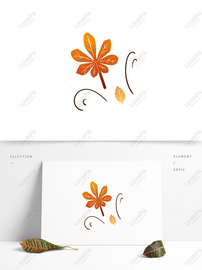 Autumn Wind Blowing Leaves Hand Drawn Elements Psd Images Free Download 1369 1024 Px Lovepik Id 732421746