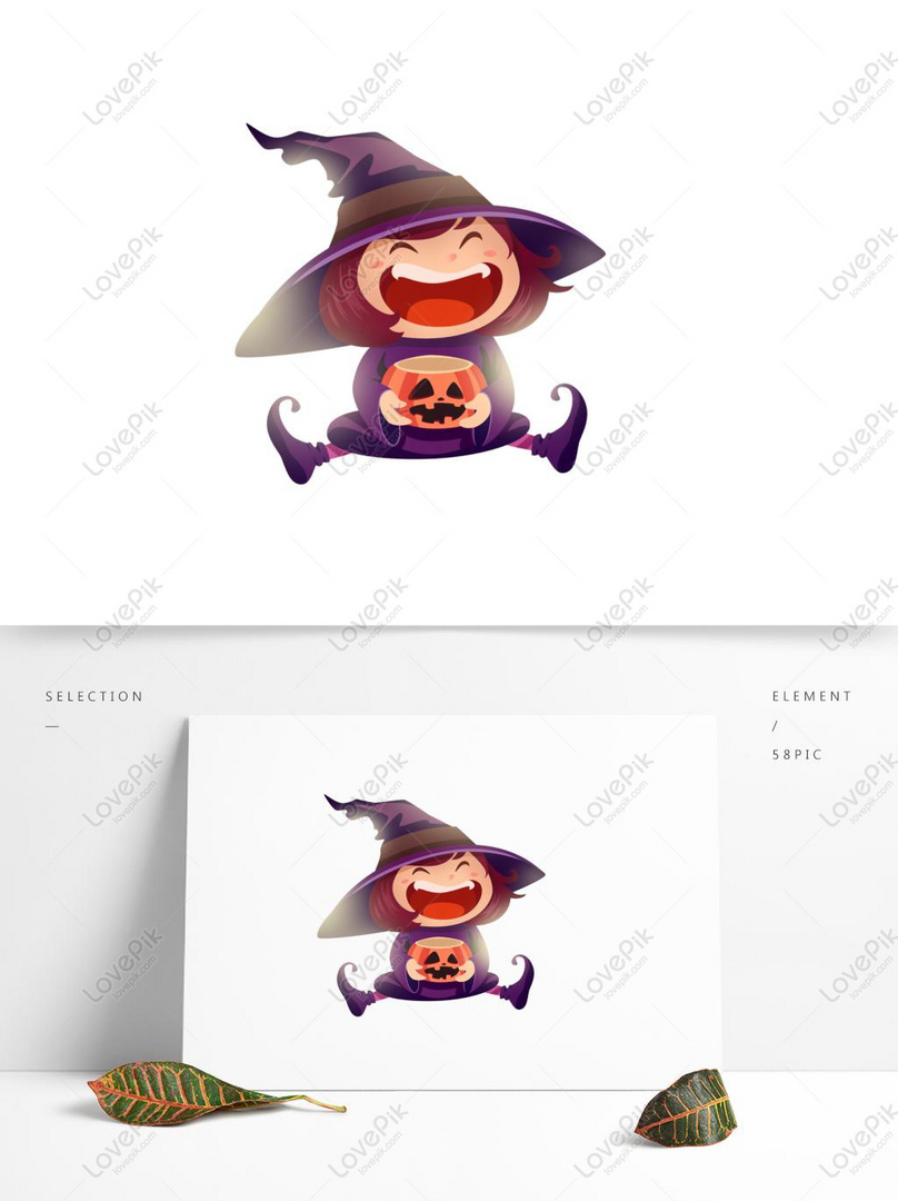 Kartun Lucu Penyihir Tertawa Bahagia Dapat Menggunakan