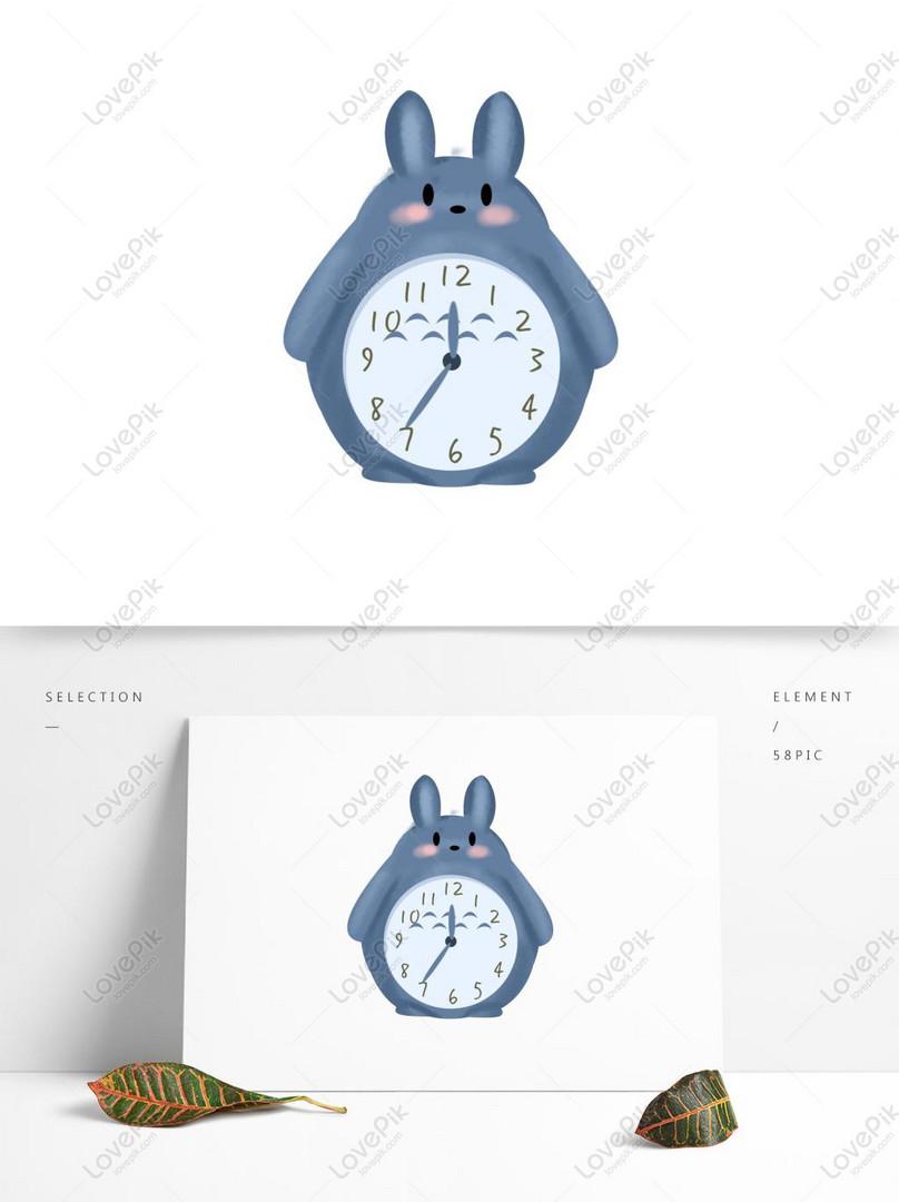 Kartun Lucu Totoro Desain Jam Alarm Dengan Elemen Komersial