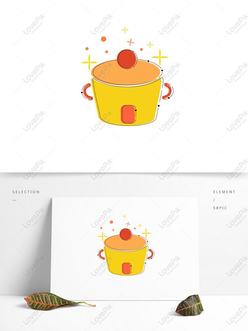 mbe icon element cartoon cute living kitchen supplies pot ...
