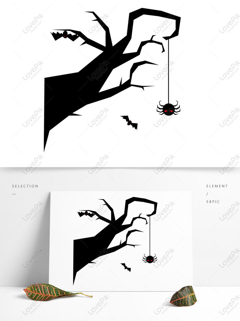 Photo De Modele De Vecteur Araignee Arbre Halloween Style Numero De L Image732452513 Format D Image Ai Fr Lovepik Com