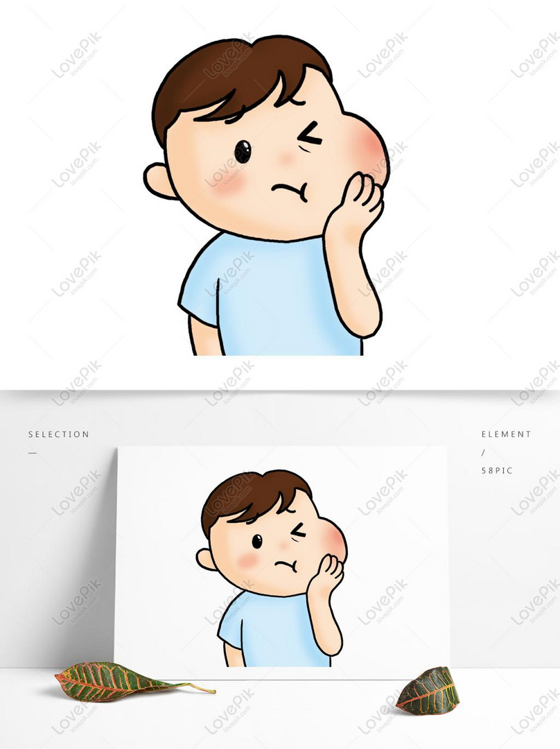 Medical Cute Cartoon Toothache Patient Tif Images Free Download 1369 1024 Px Lovepik Id 732455139